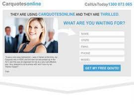 Jelenamd tarafından Design a landing page Mockup for Car Quotes Online için no 21