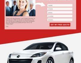 #23 untuk Design a landing page Mockup for Car Quotes Online oleh Jelenamd
