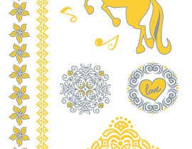 asselnor tarafından Design, illustrate or art work - Metallic temporary tattoo flash sheets Unicorns and love için no 17