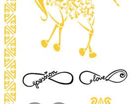 asselnor tarafından Design, illustrate or art work - Metallic temporary tattoo flash sheets Unicorns and love için no 23