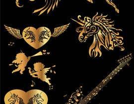 shravannaik tarafından Design, illustrate or art work - Metallic temporary tattoo flash sheets Unicorns and love için no 40