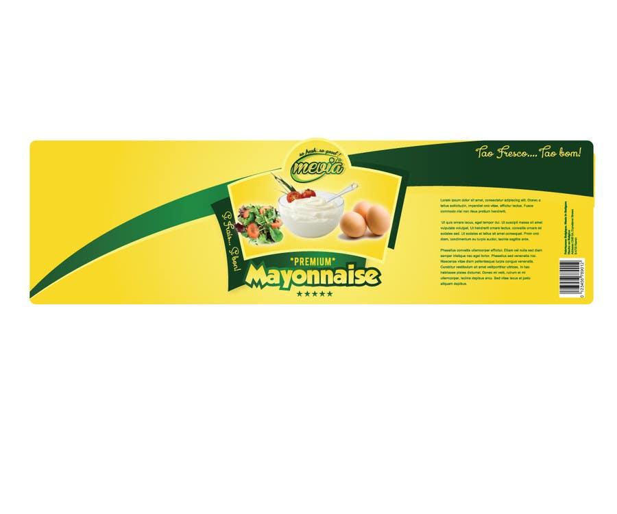 Penyertaan Peraduan #17 untuk Design a label for Mayonnaise in jars