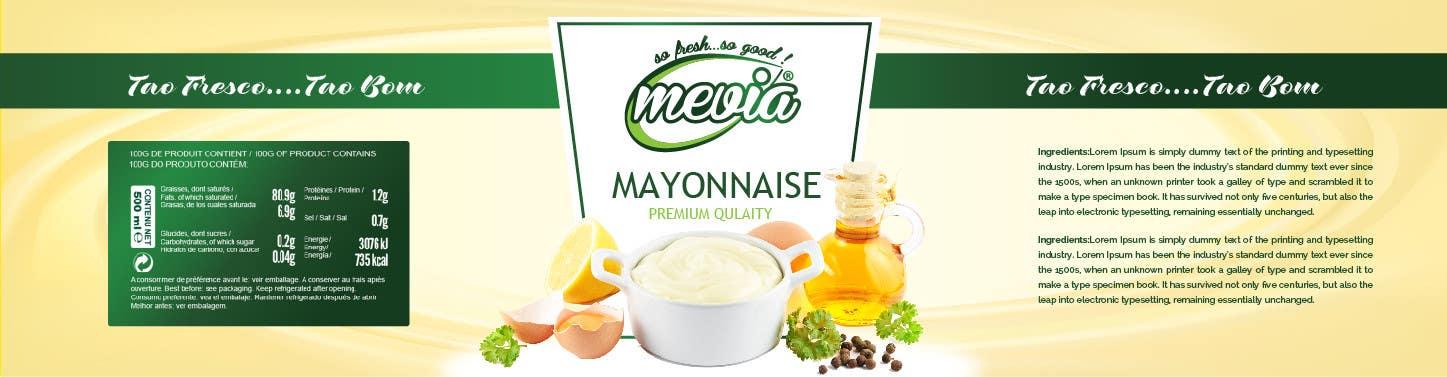 Penyertaan Peraduan #38 untuk Design a label for Mayonnaise in jars