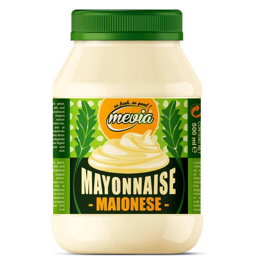 Penyertaan Peraduan #14 untuk Design a label for Mayonnaise in jars