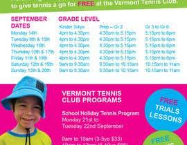 #22 untuk Design a Flyer for Tennis Club oleh RenegadeCT