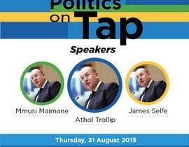 "#1 untuk Design an Advertisement poster for ""Politics on Tap"" oleh vyncadq"