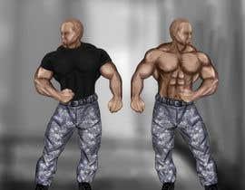 #25 untuk Create a muscular Military character/mascot. oleh barsharok