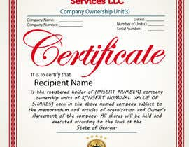 #35 untuk Design Company Ownership Certificate (Like a Corporate Shareholder Certificate) oleh Bulfire
