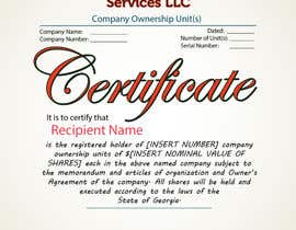 #41 untuk Design Company Ownership Certificate (Like a Corporate Shareholder Certificate) oleh Bulfire
