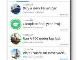 wathsalagamage tarafından Design an App Mockup for A Goal App için no 19