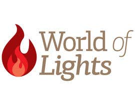 nº 10 pour Need new logo for my company; World of Lights par upbeatdesignsnet