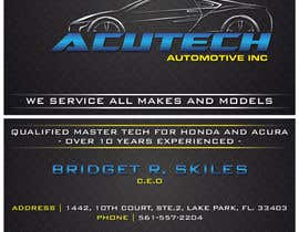 Nro 42 kilpailuun Design some Business Cards for acutech automotive inc using existing logo käyttäjältä mkdoluweera