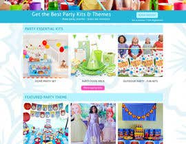 kurinjie tarafından Design a Website Mockup for Children Party & Entertainment için no 20