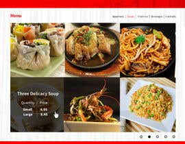 #31 untuk Design a Website Mockup for a  Chinese restaurant oleh vincentdesigns