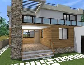 #8 untuk Redesign my house and render with a modern flat roof with parapet wall oleh markoculibrk