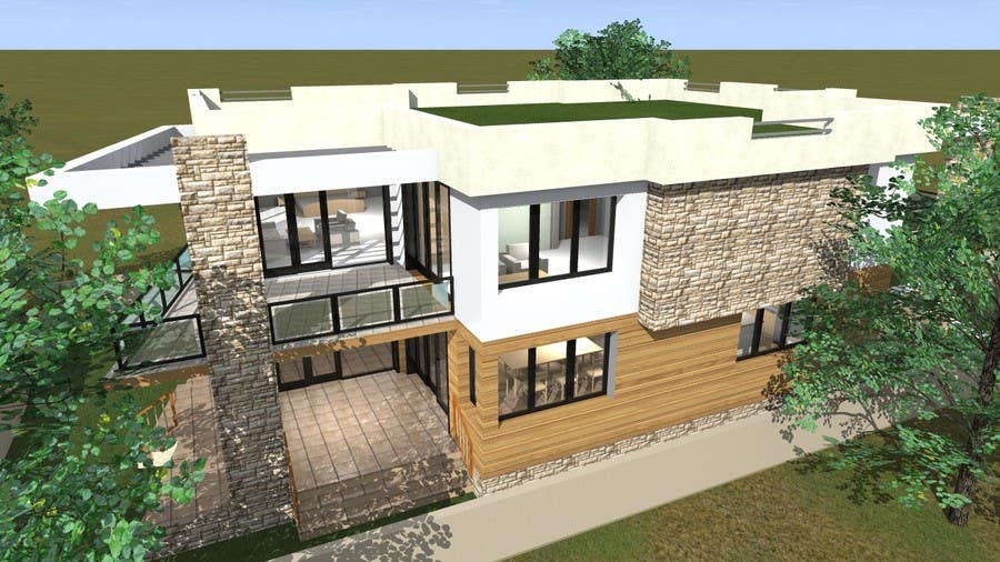 Entry 8 by markoculibrk for redesign my house and render for Redesign my house