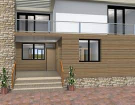 #16 untuk Redesign my house and render with a modern flat roof with parapet wall oleh markoculibrk