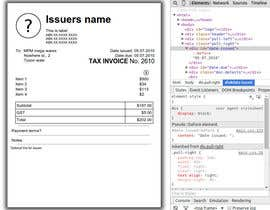 #2 untuk Design five blank Invoices in HTML and CSS oleh SundaySalsa