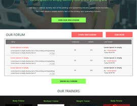 #5 untuk Design and build a homepage for fitness website & forum oleh greenarrowinfo