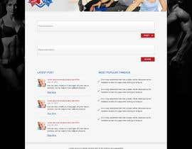 #2 untuk Design and build a homepage for fitness website & forum oleh webidea12