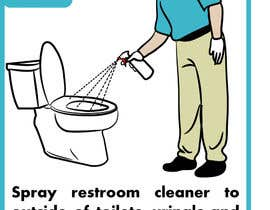 #7 untuk Illustrate Something for Restroom Cleaning TRAINING manual oleh rebces