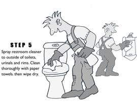 #6 untuk Illustrate Something for Restroom Cleaning TRAINING manual oleh bennashcartoons
