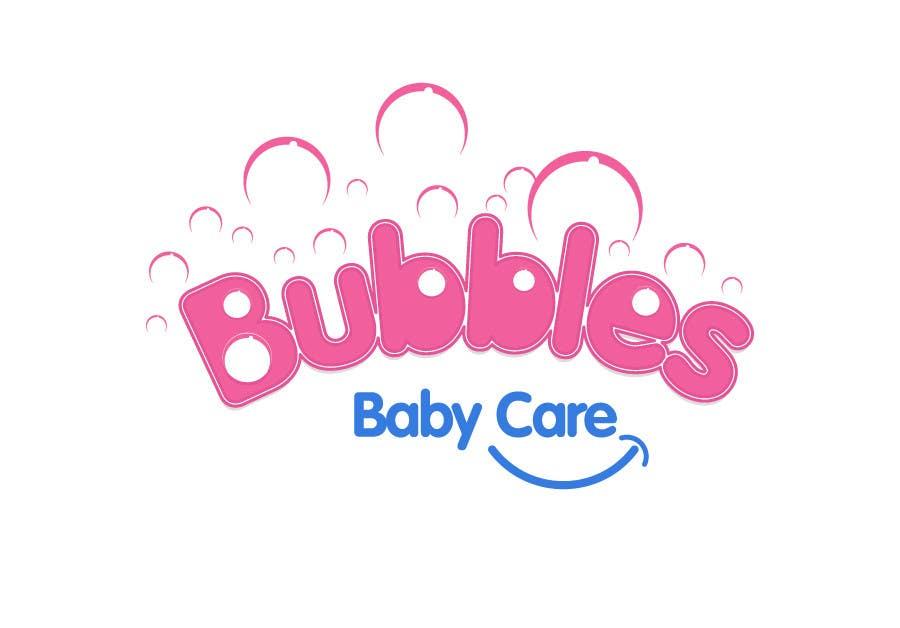 Kilpailutyö #336 kilpailussa Logo Design for brand name 'Bubbles Baby Care'