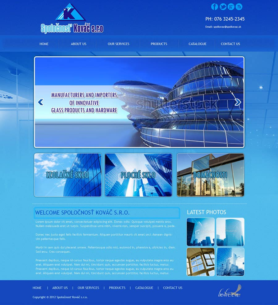 #15 for Web design for glass machine company by aryamaity
