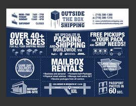 #39 for FLYER DESIGN: Shipping Store Services with Coupons by cwgu