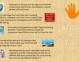"sumeet00 tarafından ""5 Reasons to Travel"" banner needed için no 15"