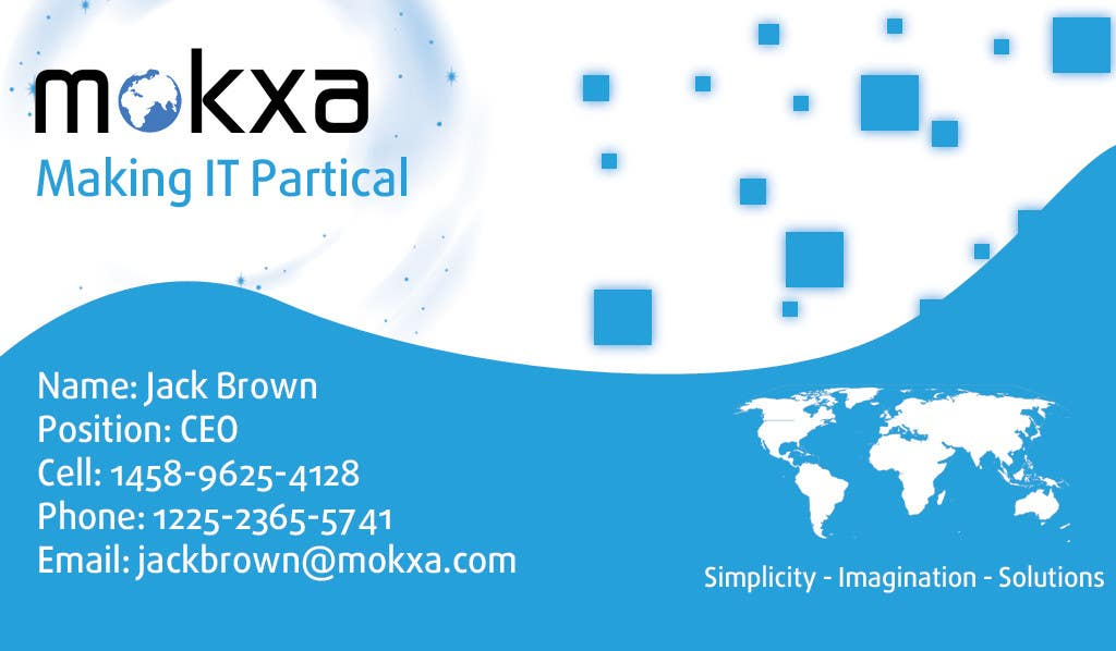 #16 for Design some Business Cards for Mokxa Technologies LLC by camsdhd01