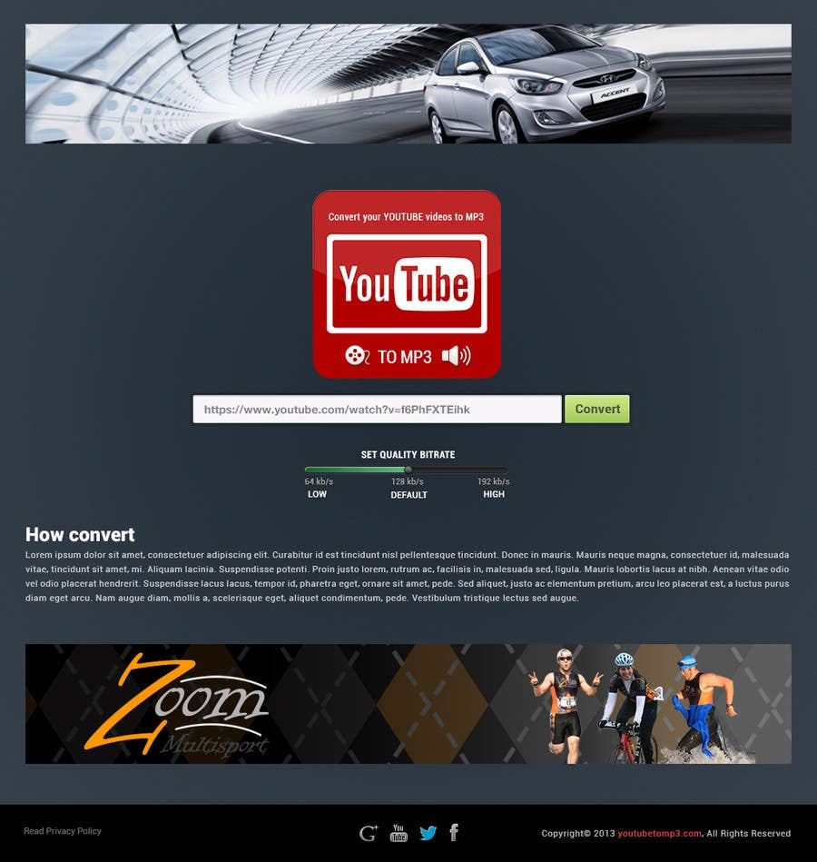 #35 for Youtube to MP3 Converter Website by hipnotyka