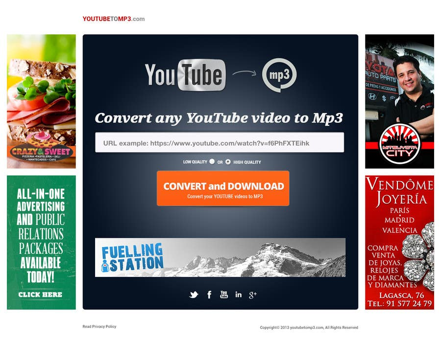 #52 for Youtube to MP3 Converter Website by hipnotyka