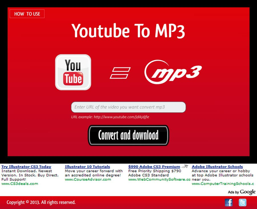 #39 for Youtube to MP3 Converter Website by macper