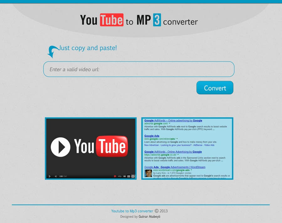 #8 for Youtube to MP3 Converter Website by gatabeyli