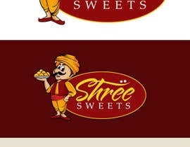 #22 untuk Design a Logo, tag line and a mascot for my Indian Sweets shop oleh pinky