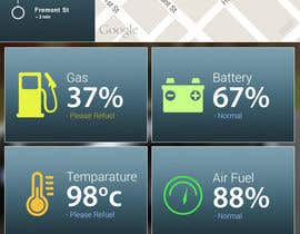 #16 untuk Design an app mock up for a screen that shows real time vehicle data oleh shobuj3d