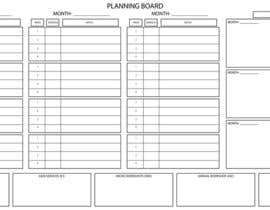 #4 untuk Illustrate a Large Scale Planning Board and Calendar that we can use to track our Marketing oleh IvIQuddusi
