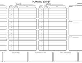 #5 untuk Illustrate a Large Scale Planning Board and Calendar that we can use to track our Marketing oleh IvIQuddusi