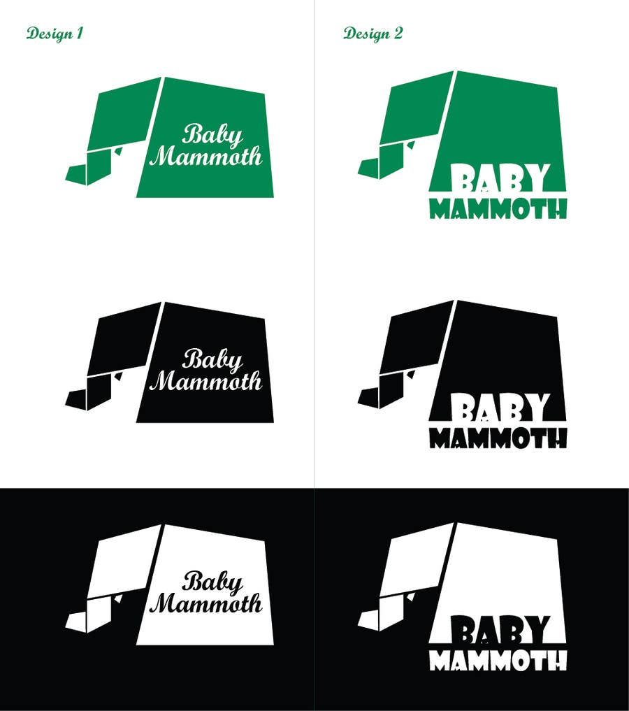 #107 for Design a Logo for Baby Mammoth! by acmstha55