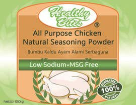 #30 untuk Fast & easy job, making a label design for natural seasoning oleh othmanesami2299
