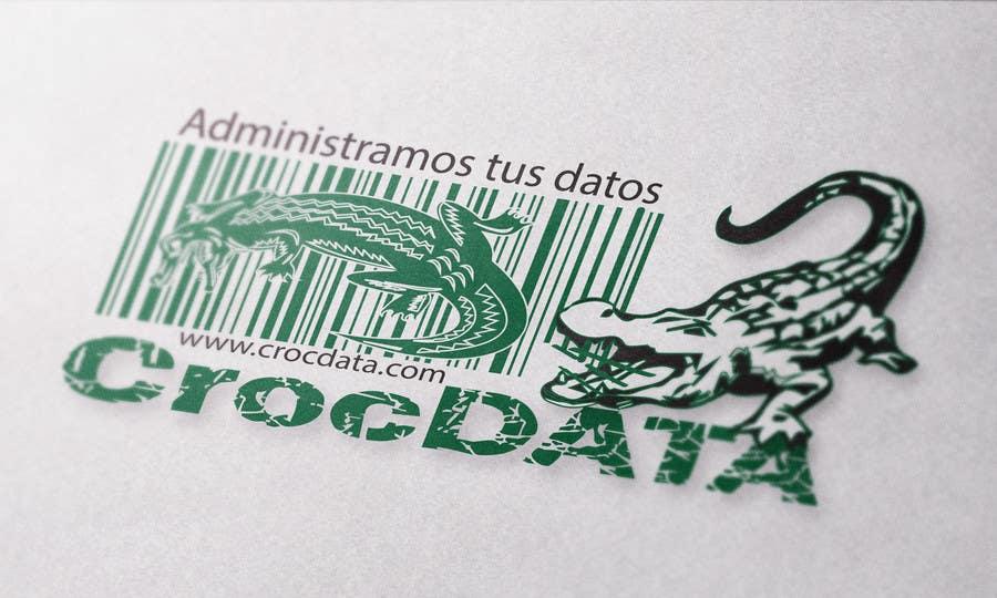 Penyertaan Peraduan #86 untuk Logo for CrocDATA a website for barcodes
