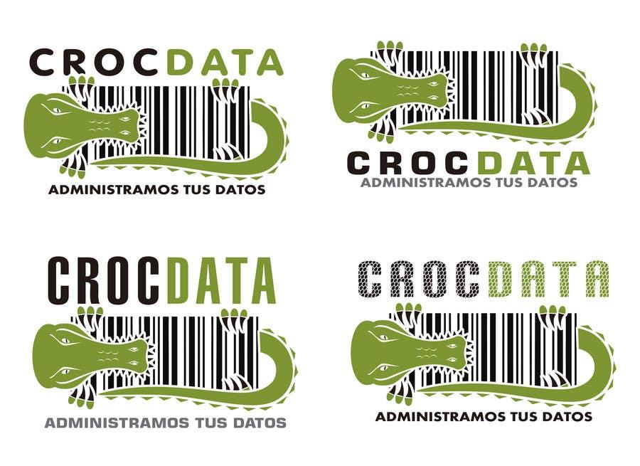 Penyertaan Peraduan #76 untuk Logo for CrocDATA a website for barcodes
