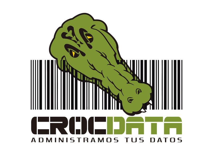 Penyertaan Peraduan #97 untuk Logo for CrocDATA a website for barcodes