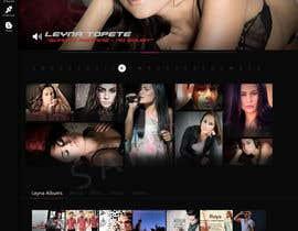 #47 untuk Design a website for an actress/singer/model oleh DesignerCS