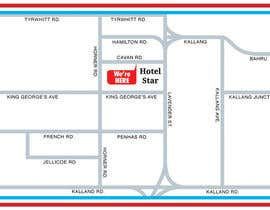 #14 untuk Draw a location map of my hotel for printing oleh vntkshp