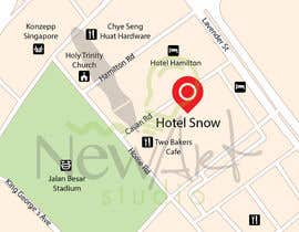 #8 untuk Draw a location map of my hotel for printing oleh ZiggyTorresGT