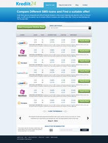#5 for Create a Layout/Design for PayDay Loan Comparison Website by kosmografic