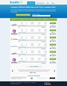 #11 for Create a Layout/Design for PayDay Loan Comparison Website by kosmografic