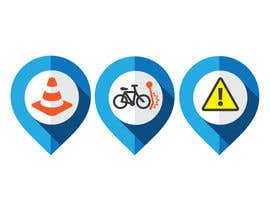 #57 untuk Design some safety icons for a map on our website oleh Tjdezine